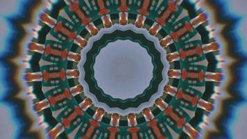 anneaux texturés rouge et vert mousse avec élément kaléidoscopique flou video
