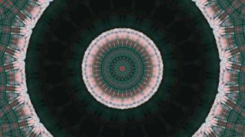 anneau texturé vert foncé de forêt avec élément kaléidoscopique fractal video