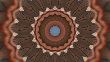 Chocolate Hazy Brown Star with Black Pinwheel Accents Kaleidoscopic Element video