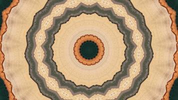 élément kaléidoscopique anneau étoile orange doux video