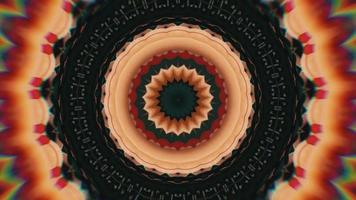 fond détaillé en noir et blanc avec élément kaléidoscopique en anneau de cuivre video