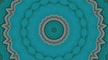 Élément kaléidoscopique d'anneau fractal turquoise vif video