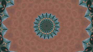 Fractal Brown Background with Floral Green Detail Kaleidoscopic Element video