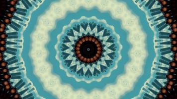 cercle de blues cool pâle avec élément kaléidoscopique de détail video