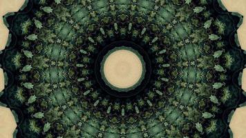 Élément kaléidoscopique fractal vert forêt video