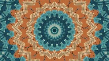Amber Orange Star with Teal Textured Kaleidoscopic Element video
