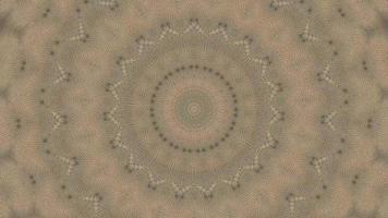 Élément kaléidoscopique étoile fractale brun beige video