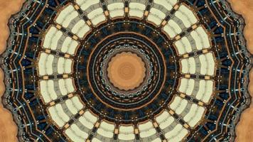 jaune de lin - marron avec élément kaléidoscopique de texture noire et variée video