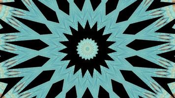fractale azur avec élément kaléidoscopique accent noir video
