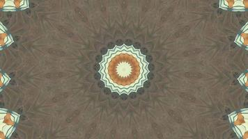 Brown Snowflake Fractal with Earthen Kaleidoscopic Element video