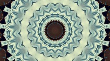 Pale Blue Snowflake Kaleidoscopic Element video