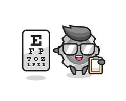 Illustration of gear mascot as an ophthalmology vector