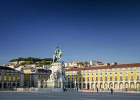 Praca do Commercio main square in central old town Lisbon Portugal photo