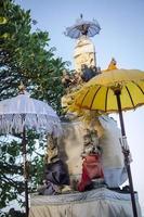 Traditional Balinese Hindu shrine in Bali Indonesia photo