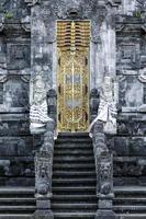 Pura Goa Lawah 'bat cave' ancient Hindu temple exterior detail in Klungkung South Bali Indonesia photo