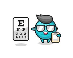 Illustration of exercise ball mascot as an ophthalmology vector