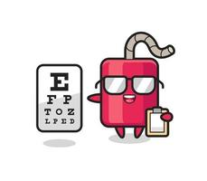 Illustration of dynamite mascot as an ophthalmology vector