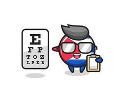 Illustration of cuba flag badge mascot as an ophthalmology vector