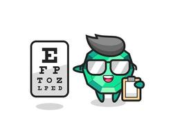 Illustration of emerald gemstone mascot as an ophthalmology vector