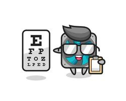 Illustration of computer fan mascot as an ophthalmology vector