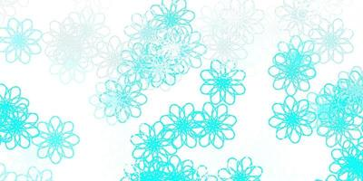 Light Green vector natural artwork with flowers.