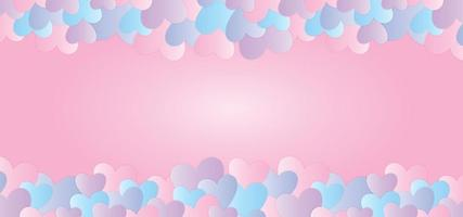 Colorful valentine background with pastel vector