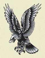 eagle tattoo old school vector