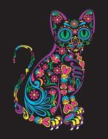 kitty day of the dead vector