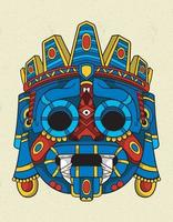 tlaloc blue mask vector
