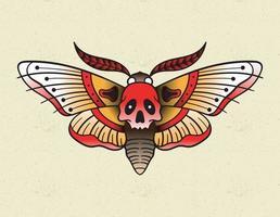 moth tattoo old school vector