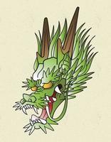 dragon japan tattoo vector