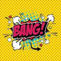 Bang Comic Speech Bubble Cartoon art and illustration vector file.