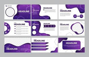 Business Presentation Template Collection vector