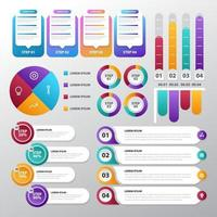 Infographic for Business Template Set vector