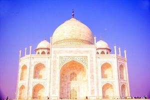 The Taj Mahal, is an ivory-white marble in the Indian city of Agra photo