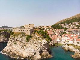 Aerial view at famous in Croatia, Dubrovnik old town photo