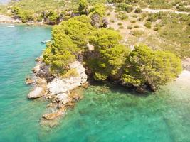 Blue lagoon, Beautiful bay near Podgora town, Makarska Croatia photo