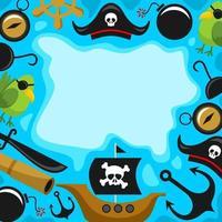Cartoon Pirates Background vector