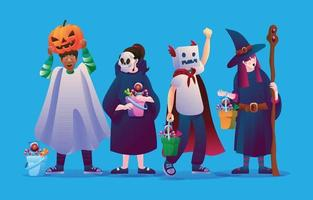Trick or Treat Costume Party vector