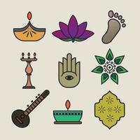 Diwali Festival Icon vector