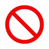 No symbol. Prohibition sign. Not allowed icon. Circle with backslash vector
