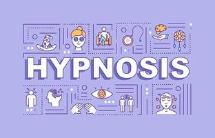 Hypnosis word concepts banner vector