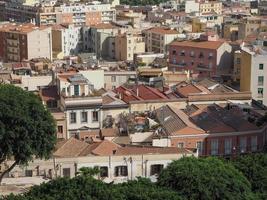 Aerial view of Cagliari photo