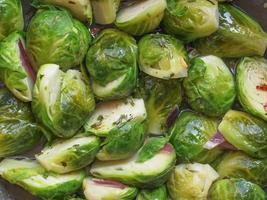 repollo de bruselas verduras foto