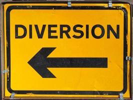 Diversion direction sign photo