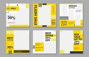 Social Media Feeds Template for Sales Event vector