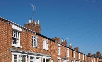 A row of terraced houses photo