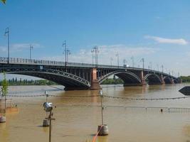 River Rhine flood in Mainz, Germany photo
