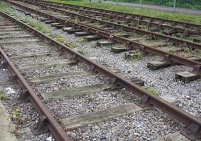 Railway track detail photo
