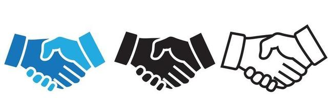 The Handshake - vector icon. Eps 10